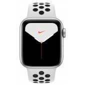 Apple Watch Series 5 Nike+ GPS 44mm Aluminum Case with Pure Platinum/Black Nike Sport Band MX3V2
