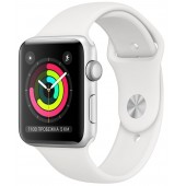 Apple Watch Series 3 GPS 38mm Silver Aluminum Case with White Sport Band MTEY2