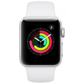 Apple Watch Series 3 GPS 42mm Silver Aluminum Case with White Sport Band MTF22