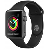 Apple Watch Series 3 GPS 38mm Space Gray Aluminum Case with Black Sport Band MQKV2
