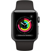 Apple Watch Series 3 GPS 42mm Space Gray Aluminum Case with Black Sport Band MQL12