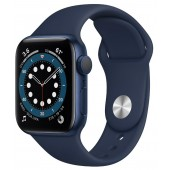Apple Watch Series 6 GPS 40mm Blue Aluminum Case with Dark Blue Sport Band