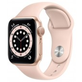 Apple Watch Series 6 GPS 40mm Gold Aluminum Case with Rose Gold Sport Band