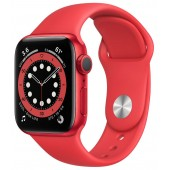 Apple Watch Series 6 GPS 40mm (PRODUCT)RED Aluminum Case with Red Sport Band