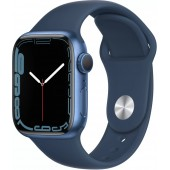 Apple Watch Series 7 GPS 41mm Blue Aluminum Case with Abyss Blue Sport Band MKN13