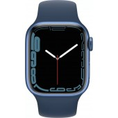 Apple Watch Series 7 GPS 45mm Blue Aluminum Case with Abyss Blue Sport Band MKN83