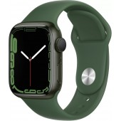 Apple Watch Series 7 GPS 41mm Green Aluminum Case with Clover Sport Band MKN03