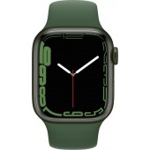Apple Watch Series 7 GPS 45mm Green Aluminum Case with Clover Sport Band MKN73