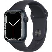 Apple Watch Series 7 GPS 41mm Midnight Aluminum Case with Midnight Sport Band MKMX3