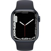 Apple Watch Series 7 GPS 45mm Midnight Aluminum Case with Midnight Sport Band MKN53