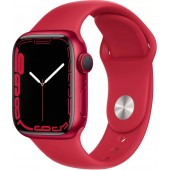 Apple Watch Series 7 GPS 41mm (PRODUCT)RED Aluminum Case with Red Sport Band MKN23