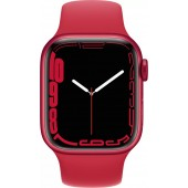 Apple Watch Series 7 GPS 45mm (PRODUCT)RED Aluminum Case with Red Sport Band MKN93