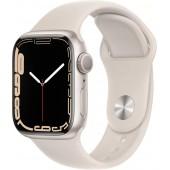 Apple Watch Series 7 GPS 41mm Starlight Aluminum Case with Starlight Sport Band MKMY3