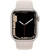 Apple Watch Series 7 GPS 45mm Starlight Aluminum Case with Starlight Sport Band MKN63