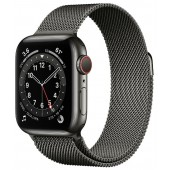Apple Watch Series 6 GPS + Cellular 40mm Stainless Steel Case with Milanese Loop Graphite