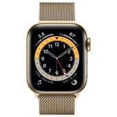 Apple Watch Series 6 GPS + Cellular 44mm Stainless Steel Case with Milanese Loop Gold