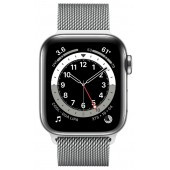 Apple Watch Series 6 GPS + Cellular 44mm Stainless Steel Case with Milanese Loop Silver